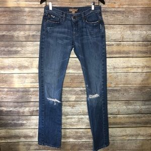 Abercrombie & Fitch Erin distressed straight jeans